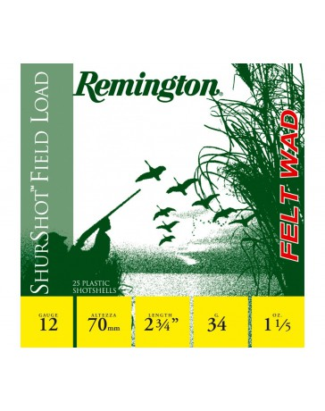 Remington ShurShot Field Load C.12/70 34g bourre grasse