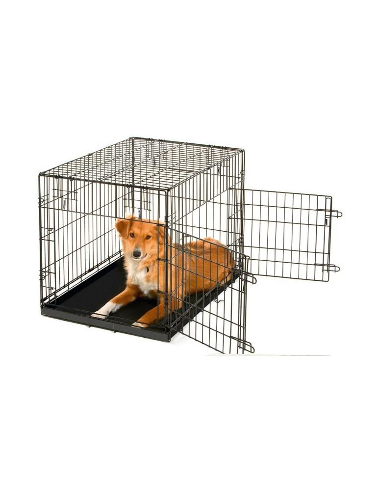 Cage pliante en métal thermolaquée pour chien