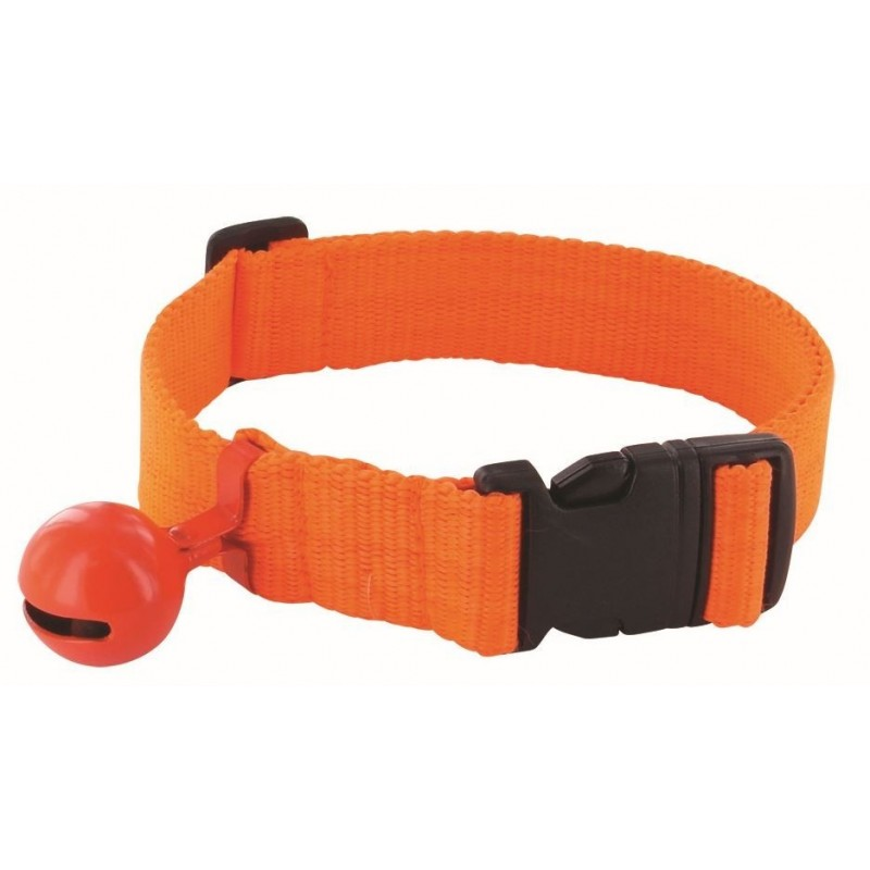 collier fluo orange avec grelot pour rep rage du chien de chasse. Black Bedroom Furniture Sets. Home Design Ideas