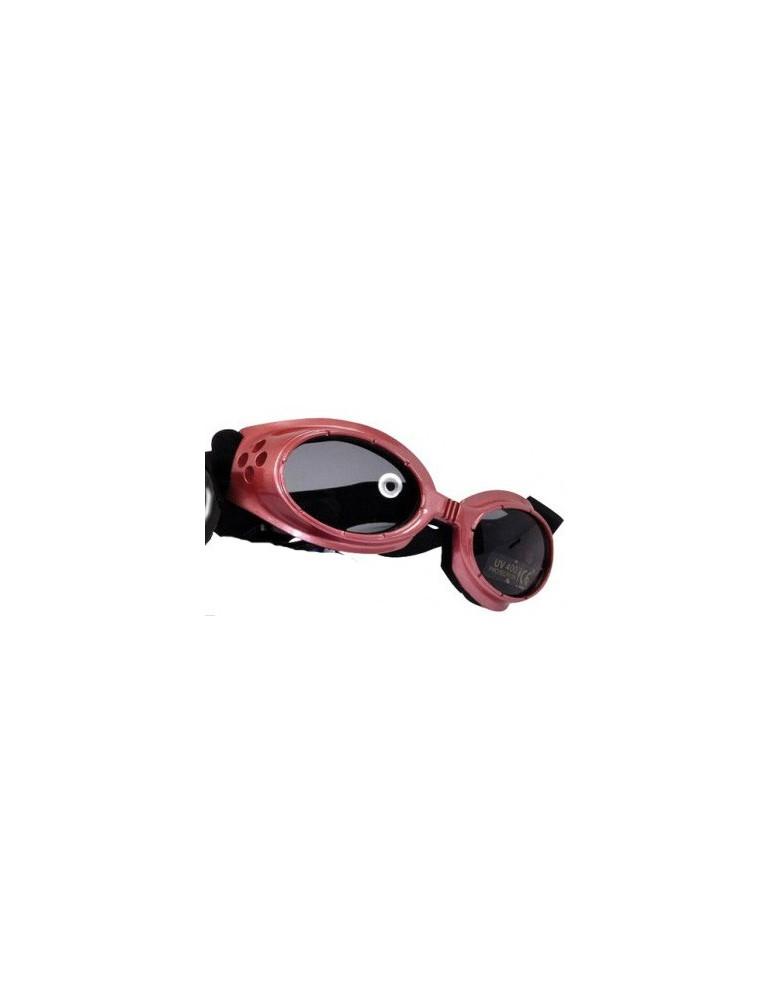 Lunettes de soleil rose réglables pour chien