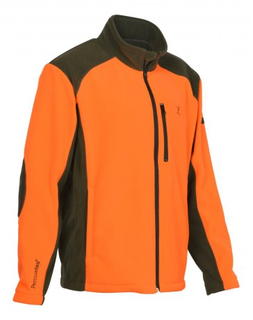 Blouson polaire Cor Percussion orange/kaki