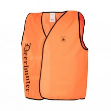 Gilet chasuble fin orange pour battue