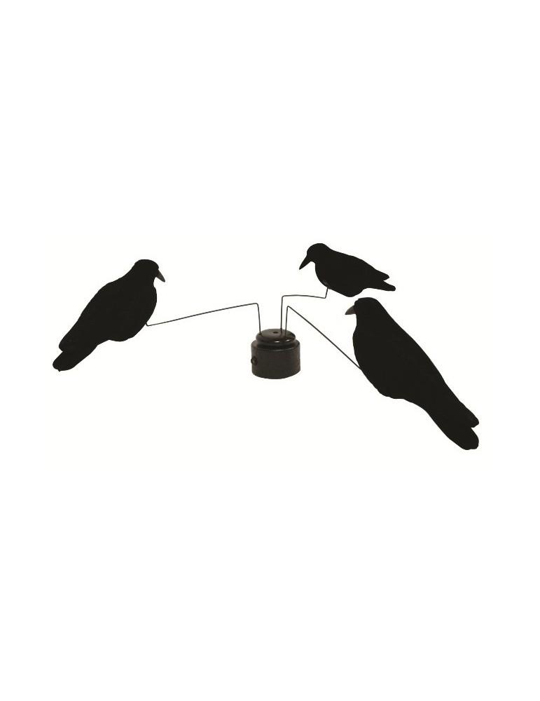 Manège avec 3 corbeaux floqués