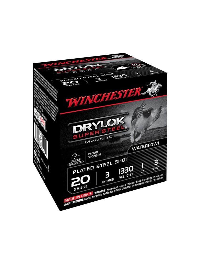 Winchester Drylok HP C.20/76 28g cartouches chasse acier