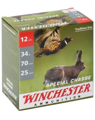 Winchester Spécial Chasse C.12/70 34g plombs nickelés