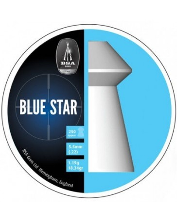 Plombs BSA Blue Stars 5,5 mm par 250