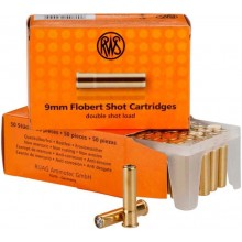 RWS 9mm Flobert double charge n°8 par 50*