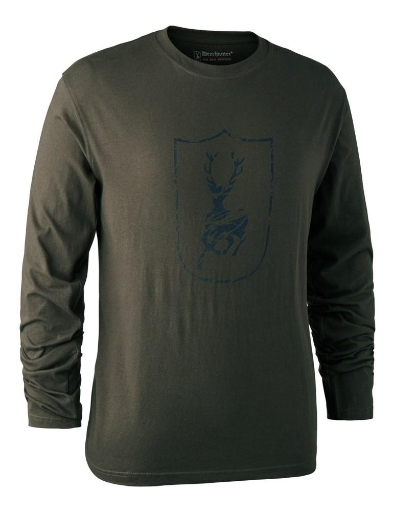 T-shirt logo cerf Deerhunter à manches longues