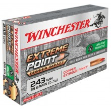 Winchester .243 Win. Extreme Point Copper Impact 85 gr sans plomb