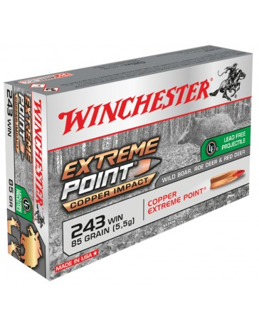 Winchester Extreme Point Copper Impact .243 Win. 85 gr sans plomb