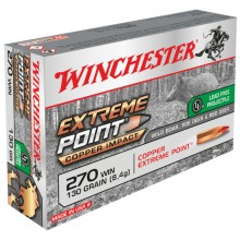 Winchester .270 Win. Extreme Point Copper Impact 130 gr sans plomb