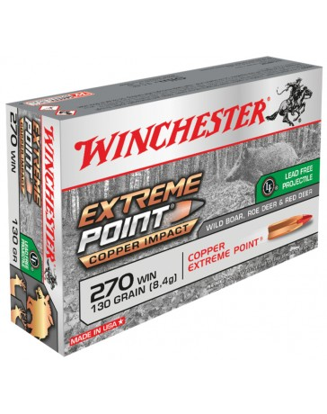 Winchester Extreme Point Copper Impact .270 Win. 130 gr sans plomb
