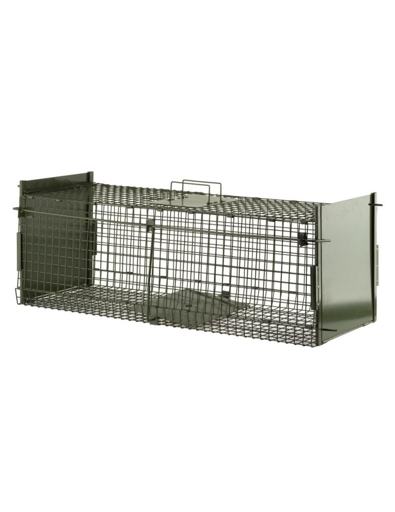 Cage pliante 2 entrées boite à fauve