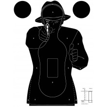 100 cibles silhouette Police 51 x 71 cm
