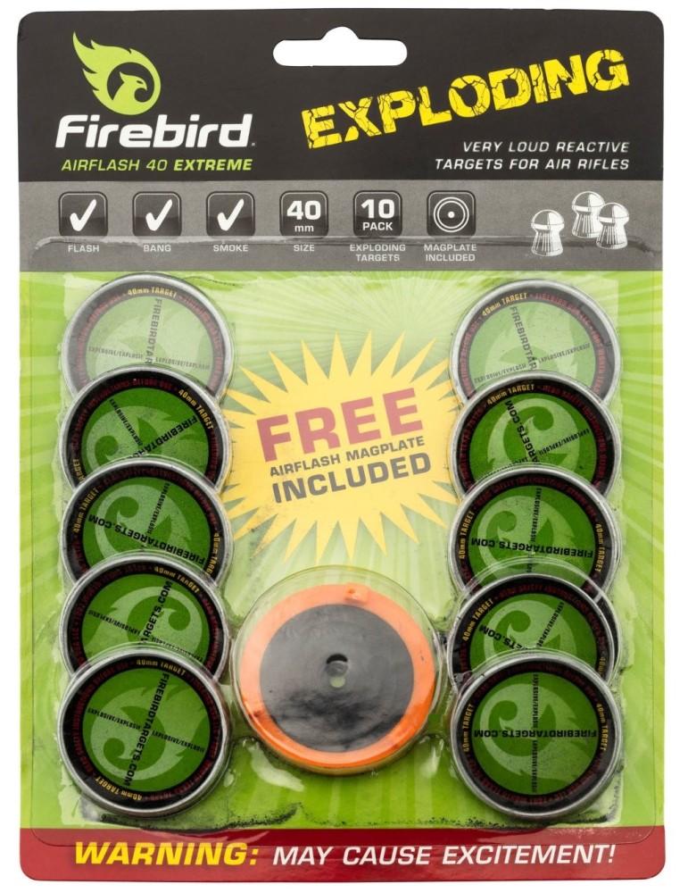 Cibles détonantes et réactives Firebird Air-flash 40 mm Extreme
