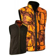 Gilet polaire Gamekeeper Deerhunter réversible camo orange et kaki