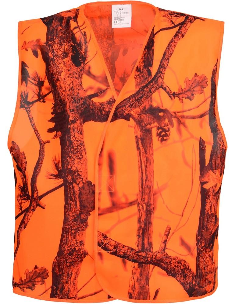 Chasuble haute visibilité orange blaze Percussion